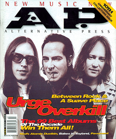 Urge Overkill on the cover of Alternative Press, July 1995 issue.