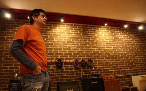 Steve Albini in his North Side studio, Electrical Audio. Photo by Megan Boguszko.