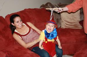 Deanna Alfano and her son Anthony, as Pinocchio.