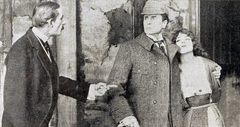 William Gillette as Sherlock Holmes in the 1916 movie made at Essanay Studios.