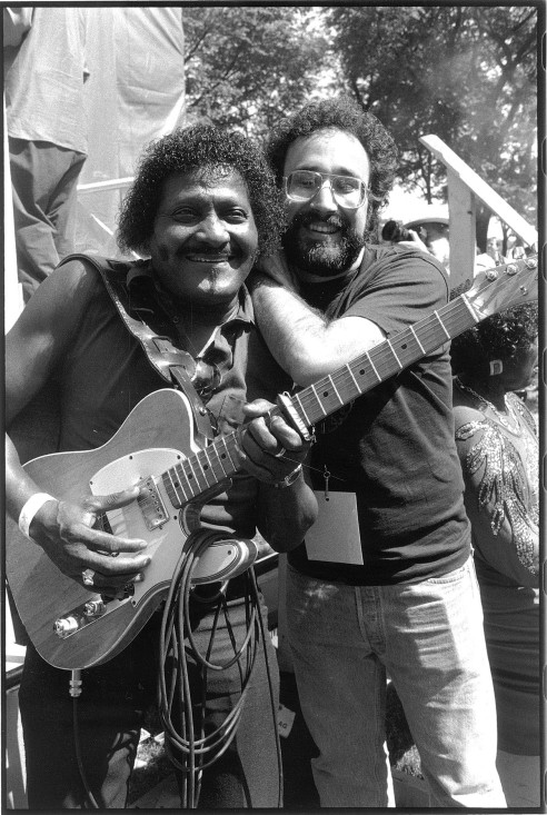 Albert Collins with Iglauer.