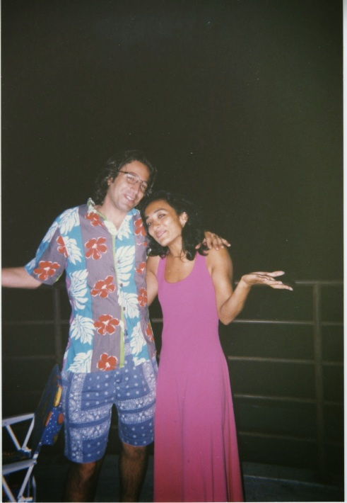 Asra Nomani celebrates her 30th birthday with her friend and Wall Street Journal colleague, Daniel Pearl. Pearl was killed in 2002 in Karachi, Pakistan, when he was visiting Nomani's home in Karachi with his wife, Mariane, He left for an interview from which he was kidnapped.