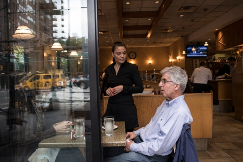 Jeanette TK, waits tables at TK in New York City. Photo by Lynsey Addario.