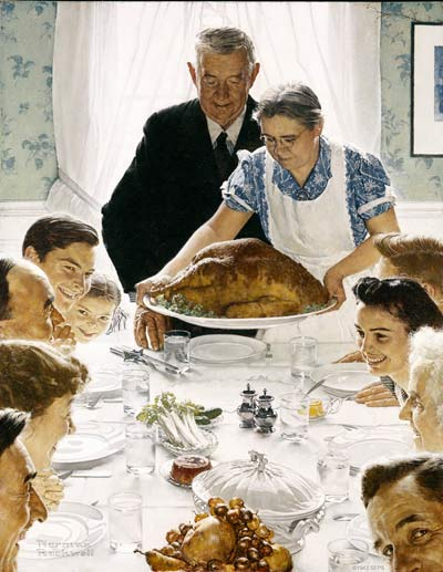 """Rockwell's """"Freedom from Want."""""""