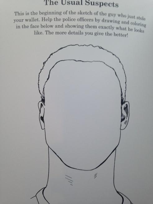 One of the activities in Ben Blount's Racial Activity Book