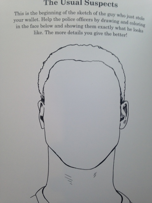 One of the activities in Ben Blount's Racial Activity Book